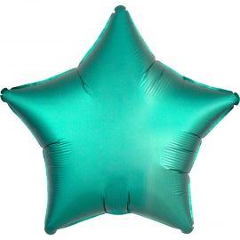 Globo helio estrella satín verde