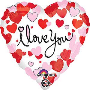 Globo helio corazon i love you blanco