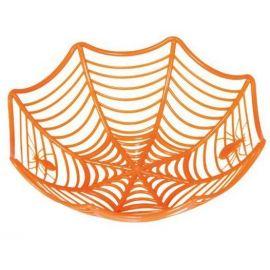 Cesto tela de araña naranja