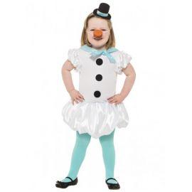 Disfraz muñeco nieve con medias niñas de 4 a 9 años