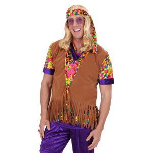 Chaleco hippie con cinta