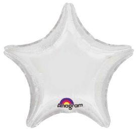 Globo helio estrella blanco