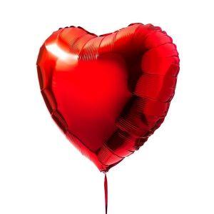Globo helio corazon jumbo rojo
