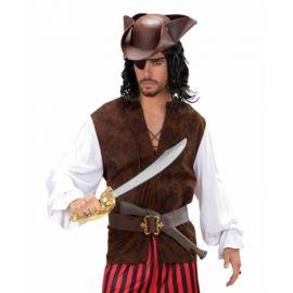 Camisa con chaleco pirata adulto
