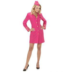 Disfraz ayudante de vuelo rosa
