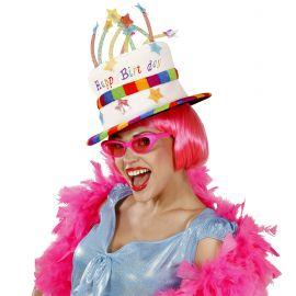 Sombrero feliz cumple tarta