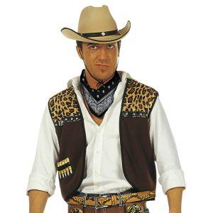 Chaleco con bandana vaquero