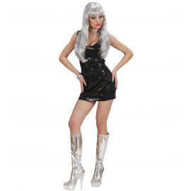 Disfraz disco fever negro chica