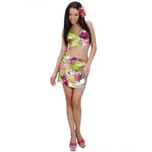 Disfraz hawaiana top falda