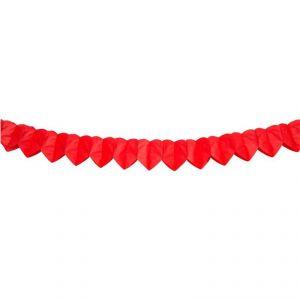 Guirnalda corazones rojos 3m