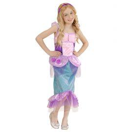 Disfraz sirena lila inf