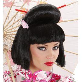 Peluca japonesa china con palillos