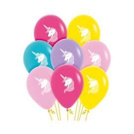 Globos unicornio colores surt 12 und