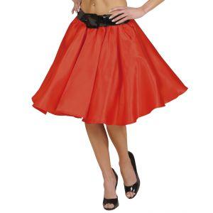 Falda roja con enagua