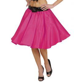 Falda rosa con enagua