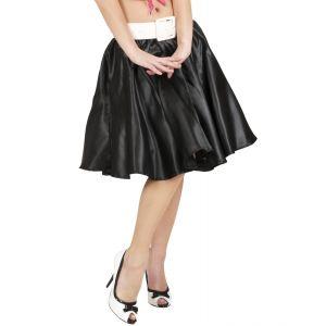 Falda negra con enagua
