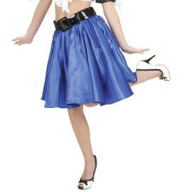 Falda azul con enagua