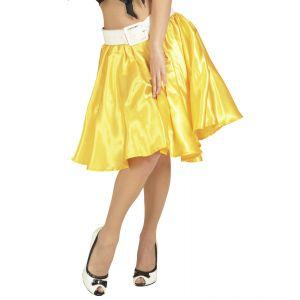 Falda con enagua amarilla