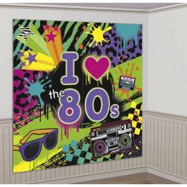 Fondo decoracion fiesta de los 80