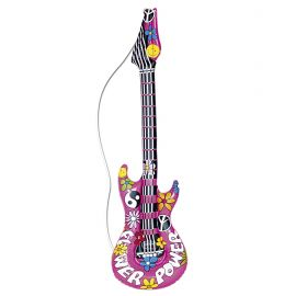 Guitarra inflable hippie