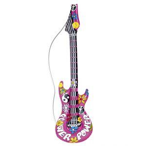 Guitarra inflable hippie