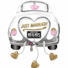 Globo helio coche boda0