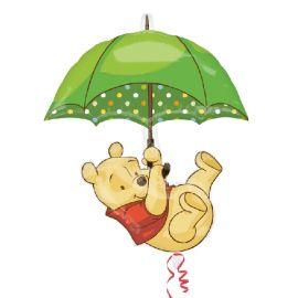 Globo helio winnie paraguas
