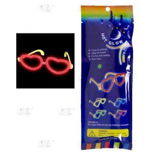 Gafas fluorescentes corazones