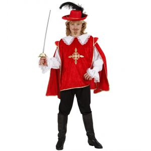 Disfraz mosquetero rojo inf