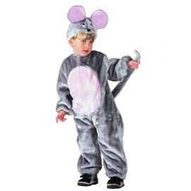 Disfraz raton peluche gris