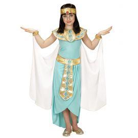 Disfraz cleopatra azul infantil