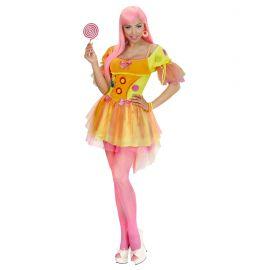 Disfraz chica fantasia neon