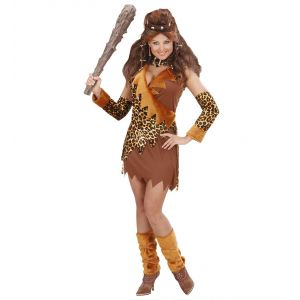 Disfraz cavernicola marron chica