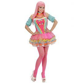 Disfraz chica fantasia arcoiris