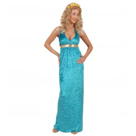 Disfraz diosa griega azul