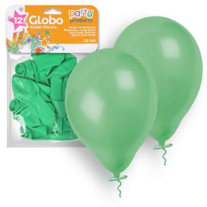 Globos pastel verde 12 und 23 cm