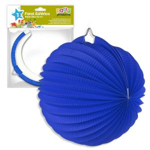 Farol 30cm azul