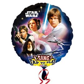 Globo helio musical star wars