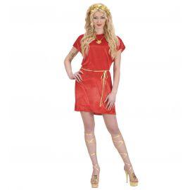 Disfraz tunica roja con cinturon