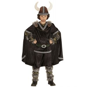 Disfraz vikingo negro deluxe inf