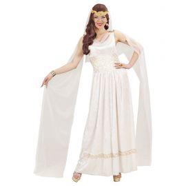 Disfraz emperatriz romana blanca