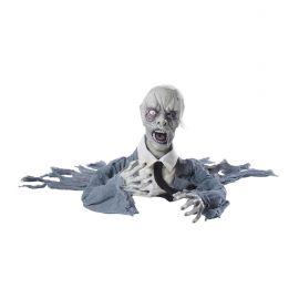 Zombie con cabeza giratoria luz y sonido