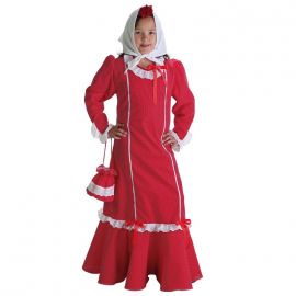 Disfraz chulapa rojo inf