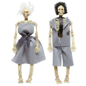Pareja esqueletos 15cm
