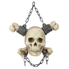 Calavera con cadenas y huesos