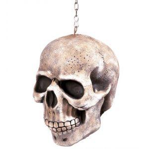 Calavera con cadena colgante 20cm