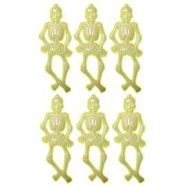 Set esqueletos fluorescentes 6 und 15cm