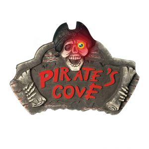 Señal cueva pirata con ojos luz