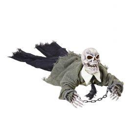 Esqueleto animado gateador, luz y sonido