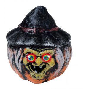 Calabaza bruja con sombrero 19x22